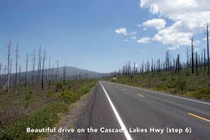 Village Properties alternate eclipse drive to Sunriver - Cascade Lakes Highway Drive
